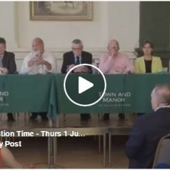 Full Video of Hustings in Hungerford